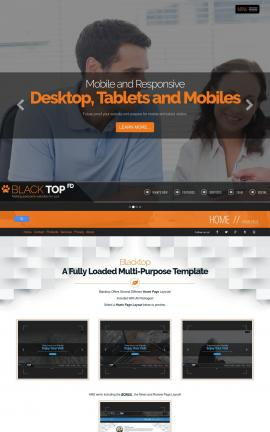 Blacktop Real-estate Website Template