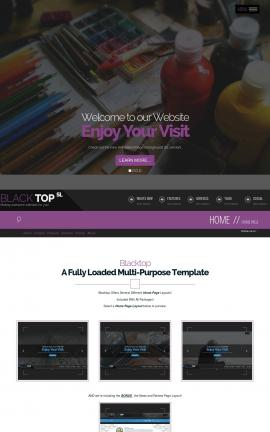 Blacktop Art-supplies Website Template