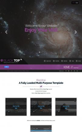 Blacktop Astronomy Website Template