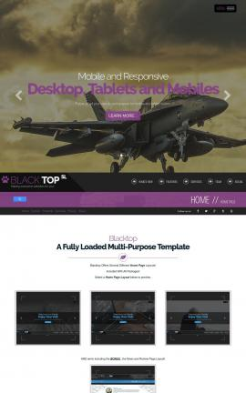 Blacktop Aviation Website Template