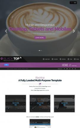 Blacktop Cafe Website Template