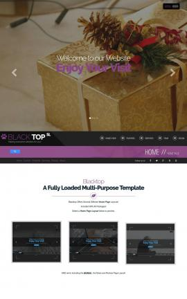 Blacktop Christmas Website Template