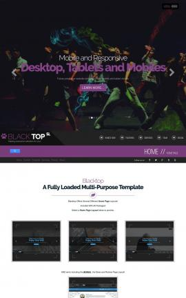 Blacktop Dance Dreamweaver Template