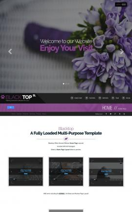 Blacktop Floral Website Template