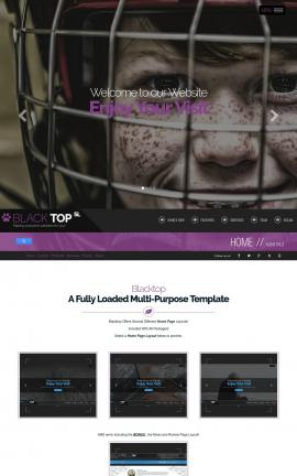 Blacktop Hockey Website Template