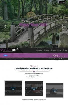 Blacktop Landscaping Website Template
