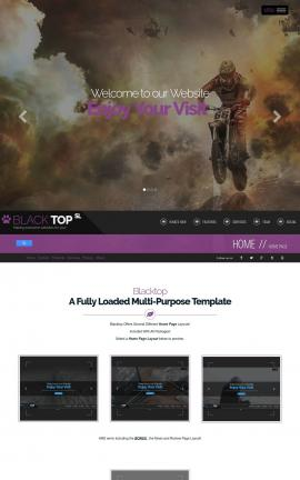 Blacktop Motocross Website Template