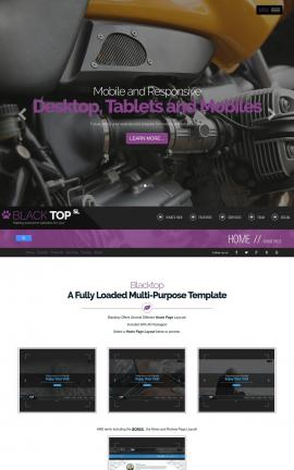 Blacktop Motorcycle Dreamweaver Template