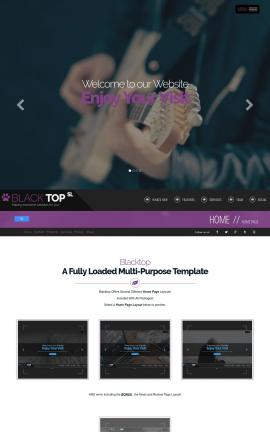 Blacktop Music Website Template