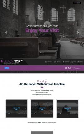 Blacktop Religion Website Template