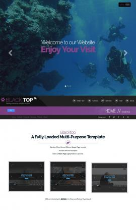 Blacktop Scuba-diving Website Template