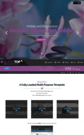 Blacktop Spa Website Template