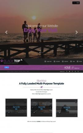 Blacktop Travel Website Template