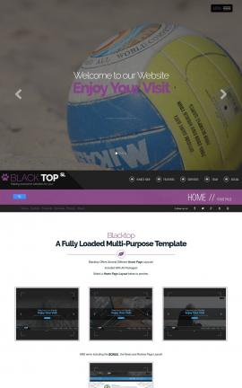 Blacktop Volleyball Website Template