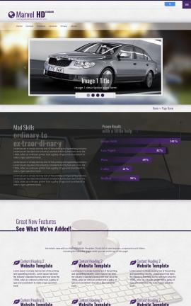 Marvel Automobile Website Template