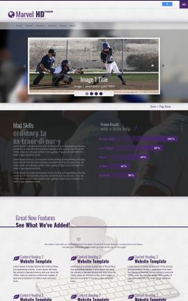Marvel Baseball Website Template