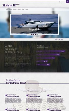 Marvel Boating Website Template