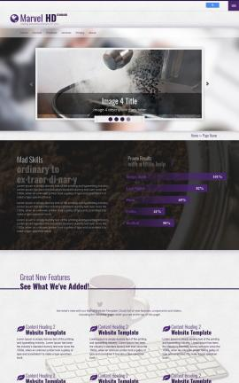 Marvel Cafe Website Template
