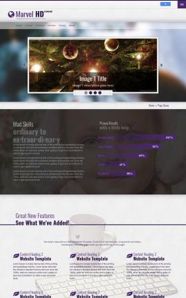 Marvel Christmas Website Template