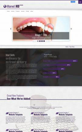 Marvel Dental Website Template