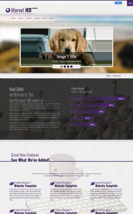 Marvel Dogs Website Template
