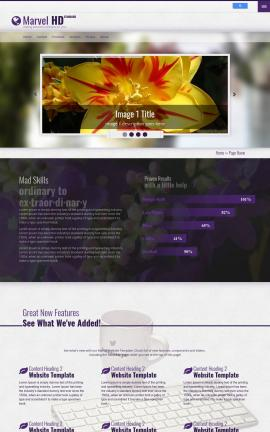 Marvel Floral Website Template