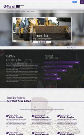 Marvel Heavy-machines Website Template