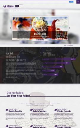 Marvel Hockey Website Template