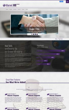 Marvel Insurance Website Template