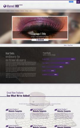 Marvel Makeup-artist Website Template