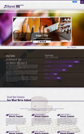 Marvel Music Website Template