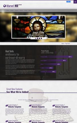 Marvel Religion Website Template