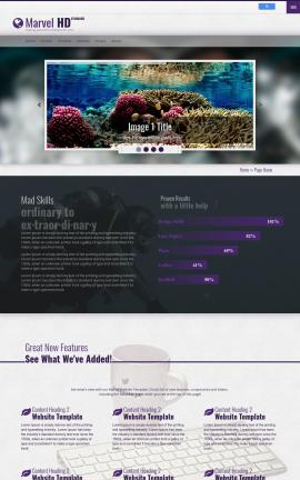 Marvel Scuba-diving Website Template
