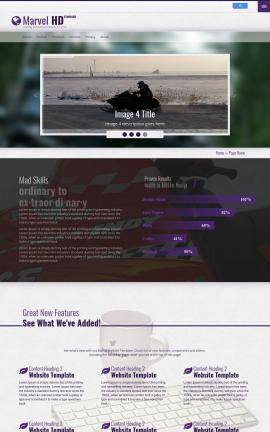 Marvel Snowmobile Website Template