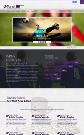 Marvel Soccer Website Template