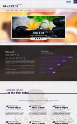 Marvel Spa Website Template
