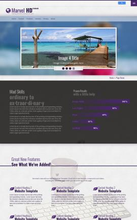 Marvel Travel Website Template