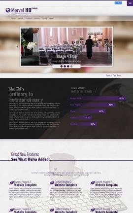 Marvel Wedding Website Template