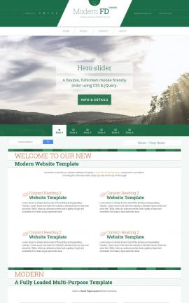 Modern Agriculture Website Template