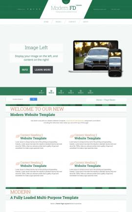 Modern Automobile Website Template