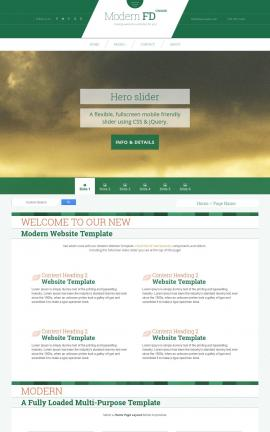 Modern Aviation Website Template
