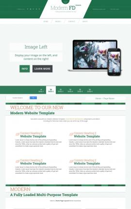 Modern Christmas Website Template