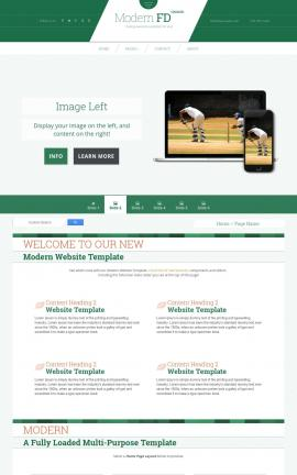 Modern Cricket Website Template