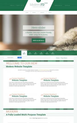 Modern Dogs Website Template