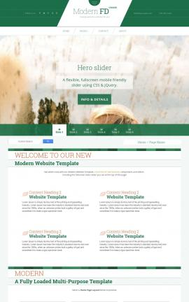 Modern Golf Dreamweaver Template