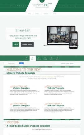 Modern Heavy-machines Website Template