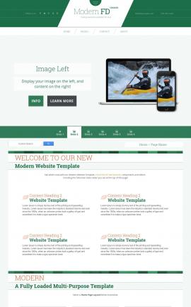 Modern Kayak Website Template