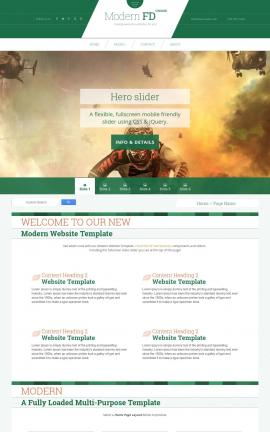 Modern Motocross Website Template
