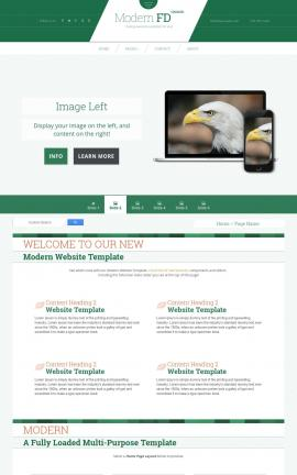 Modern Patriotic Web Template
