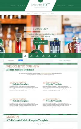 Modern Pub Website Template